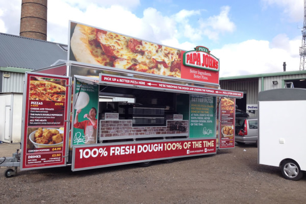 Papa John's Mobile Catering Trailer