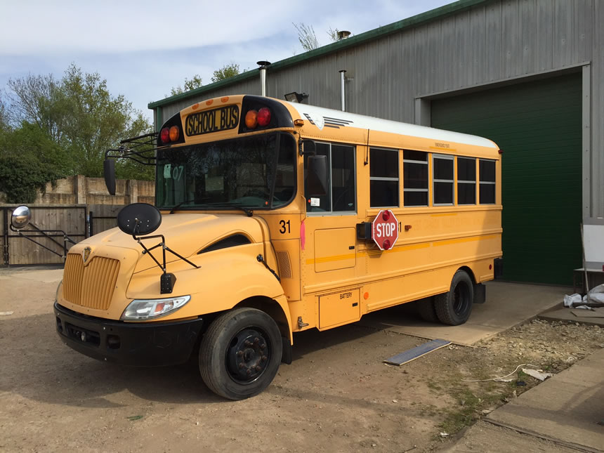 US School Bus Street Food Conversion