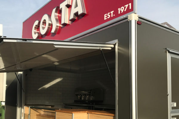 Costa Coffee Van Conversion but Towability