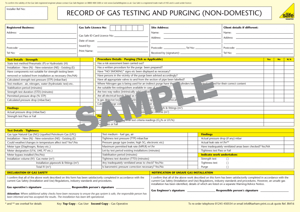 Gas Safe Testing in Northants